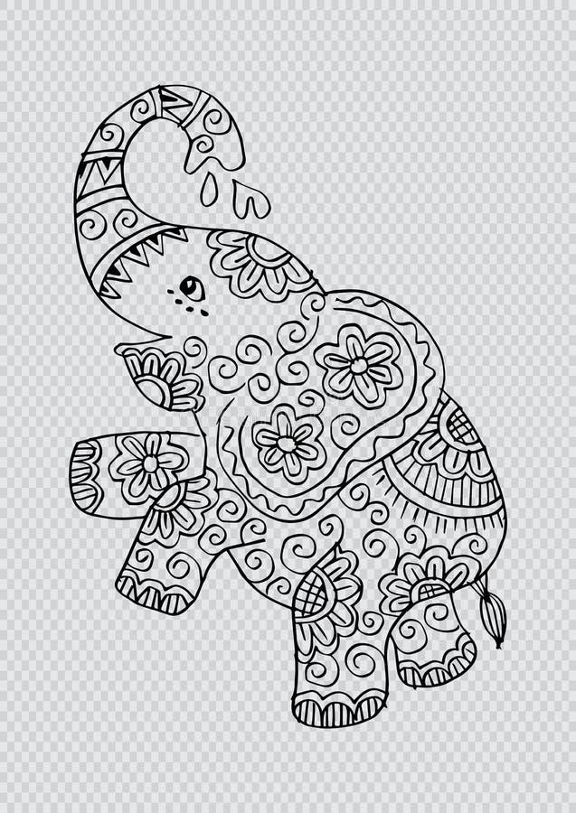 Nette Elefantstellung stock abbildung