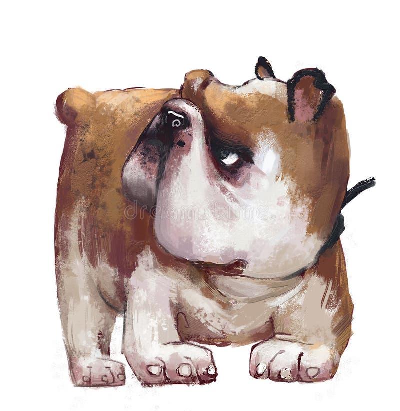 Nette englische Bulldogge lizenzfreie abbildung