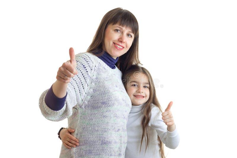 Athletisches Mutter-Tochter-Gespann