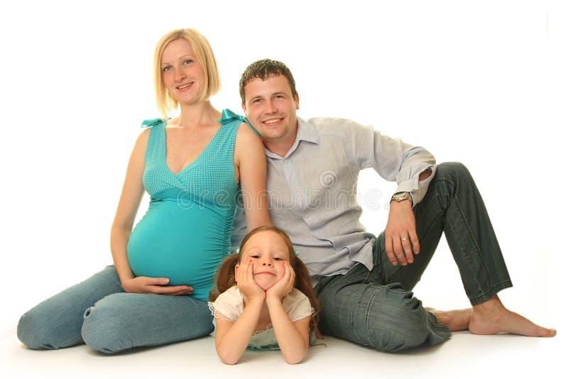 Nette Familie lizenzfreie stockfotografie