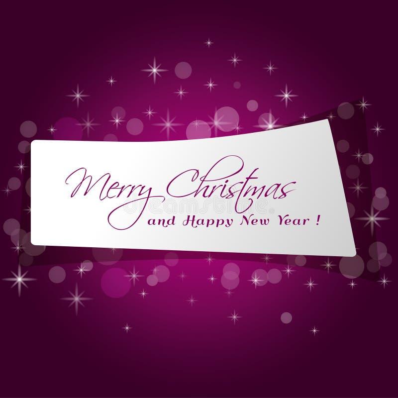 Nette fröhliche PapierWeihnachtsbotschaft stock abbildung