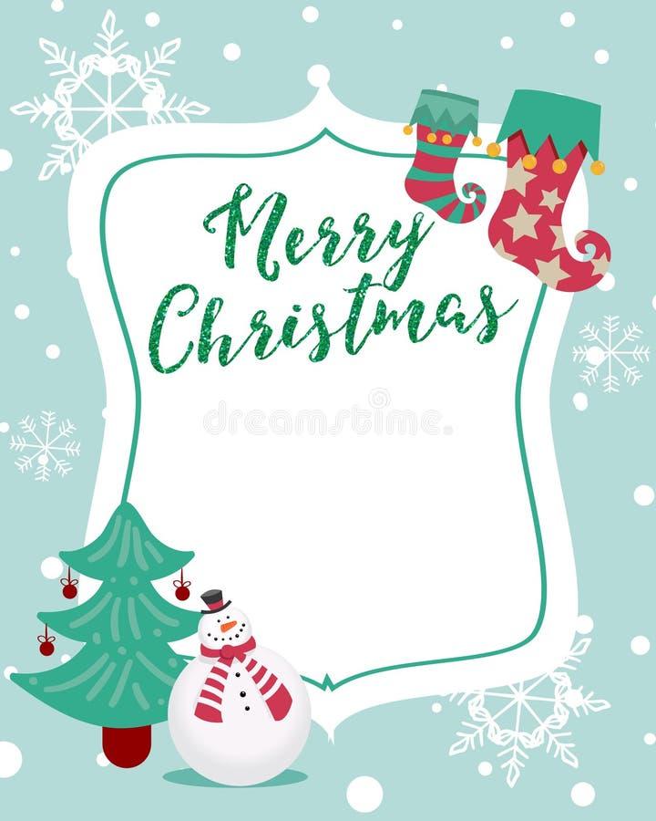 Nette frohe Weihnachten vektor abbildung