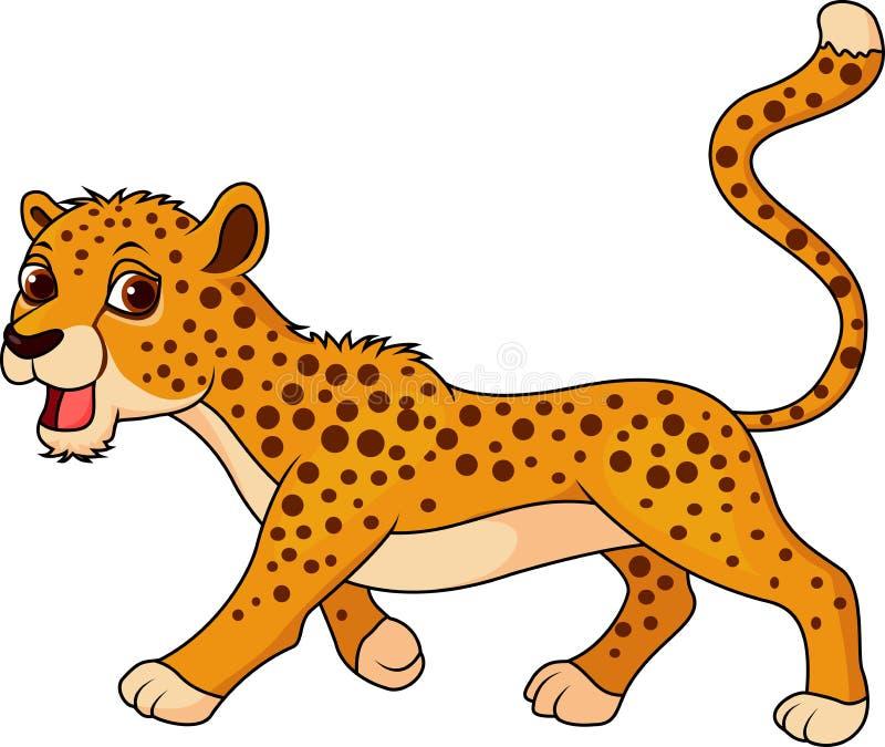 Nette Gepardkarikatur vektor abbildung