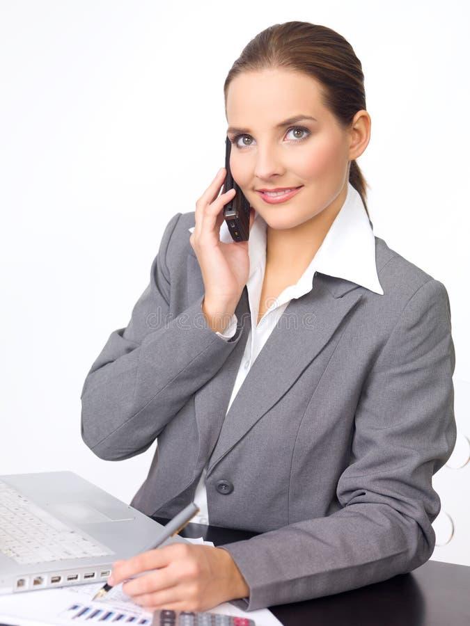 Nette Geschäftsfrau lizenzfreie stockfotografie