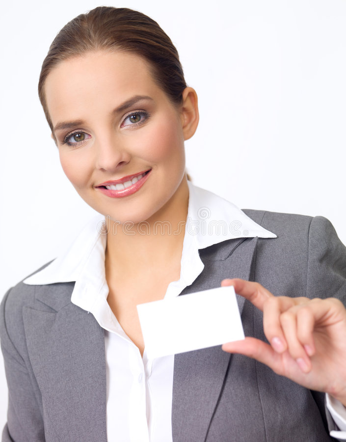 Nette Geschäftsfrau lizenzfreie stockbilder