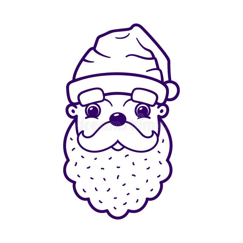 Nette Gesichtsikone Santa Clauss vektor abbildung