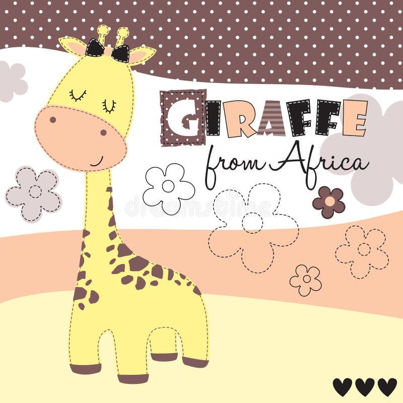 Nette Giraffe von der Afrika-Vektorillustration lizenzfreie abbildung