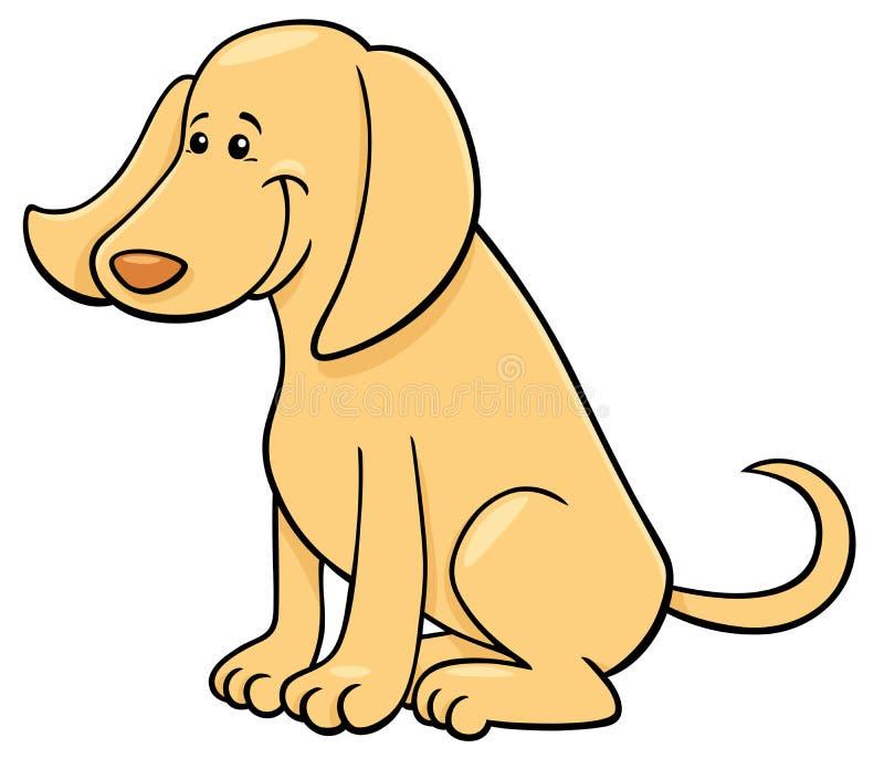 Nette glückliche Hundezeichentrickfilm-figur lizenzfreie abbildung