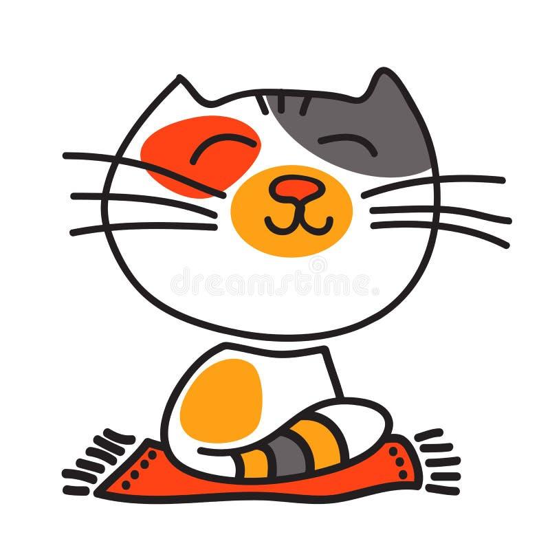 Nette glückliche Katze lizenzfreie abbildung