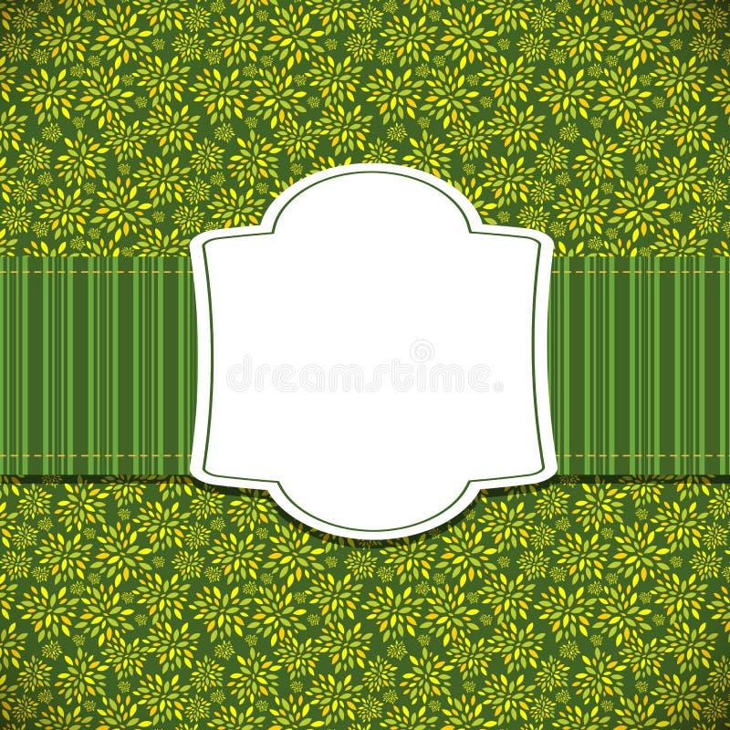 Nette grüne natürliche Rahmen-Vektor-Illustration lizenzfreie abbildung