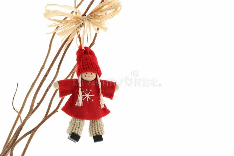 Nette Häkelarbeitengels-Weihnachtsdekoration stockfoto