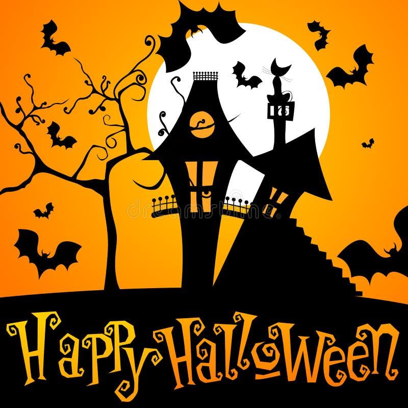 Nette Halloween-Abbildung lizenzfreie abbildung