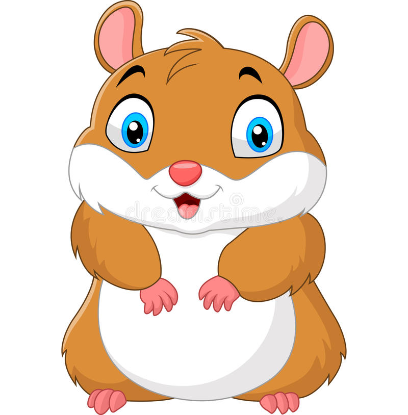 Nette Hamsterkarikatur stock abbildung