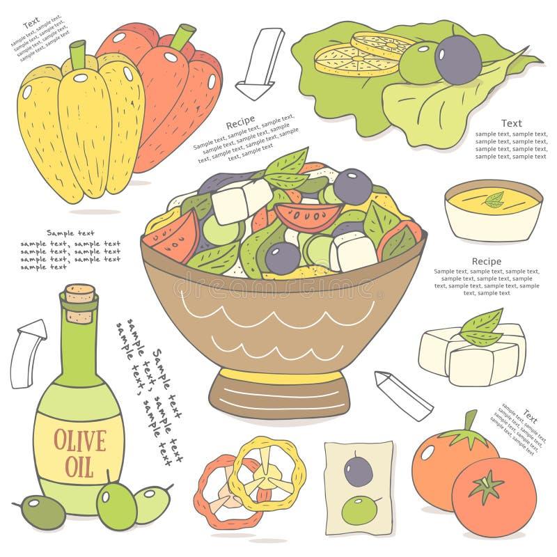Salat Gezeichnet