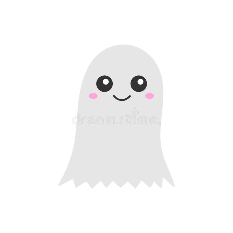Nette Hand gezeichnete Halloween-Geistvektorillustration stock abbildung