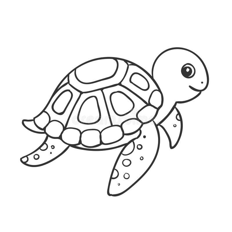 nette hand gezeichnete schildkröte stock abbildung