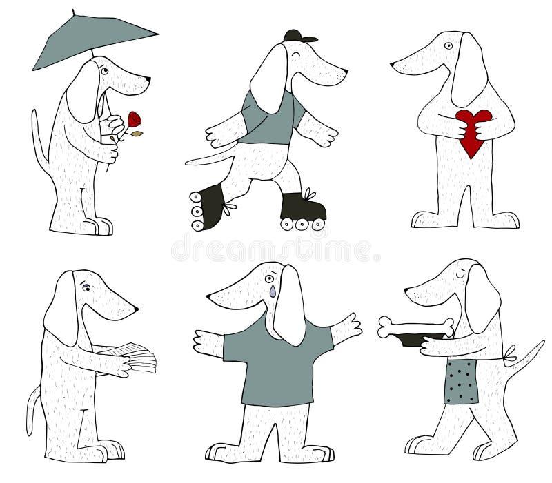 Nette Hunde lizenzfreie abbildung