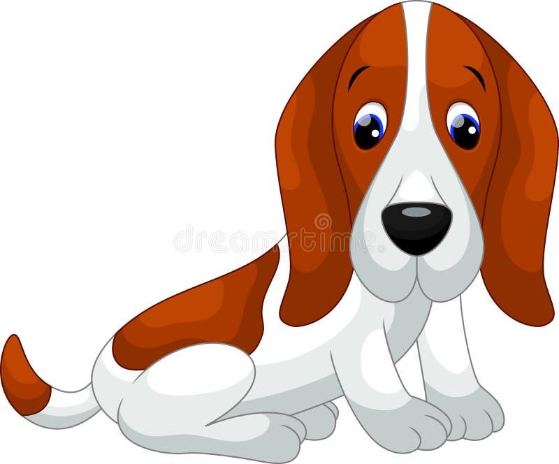 Nette Hundekarikatur vektor abbildung