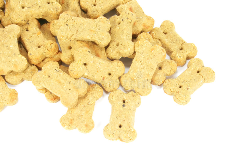 Nette Hundekuchen formten in einen Knochen stockfoto
