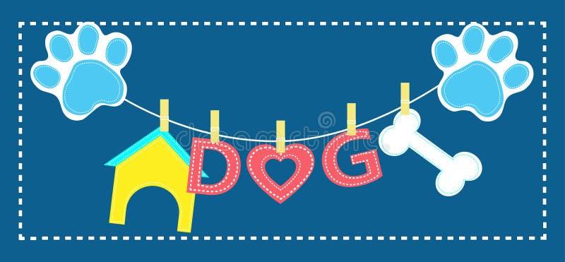 Nette Hundesteppdecke lizenzfreie abbildung