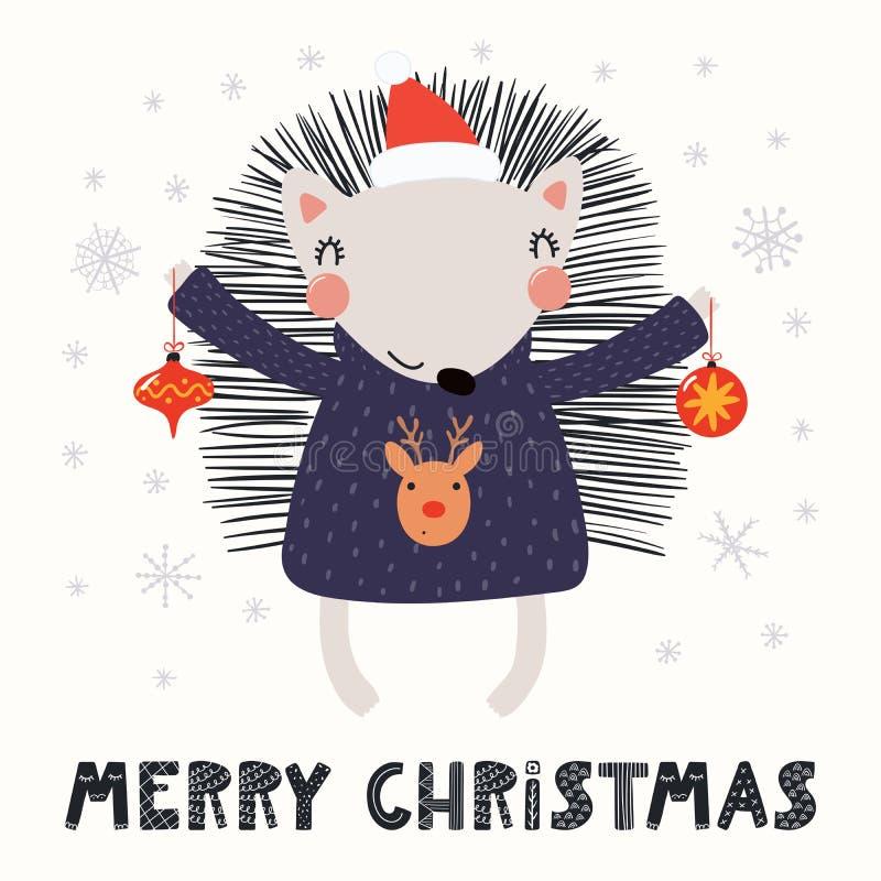 Nette Igeles Weihnachtskarte stock abbildung