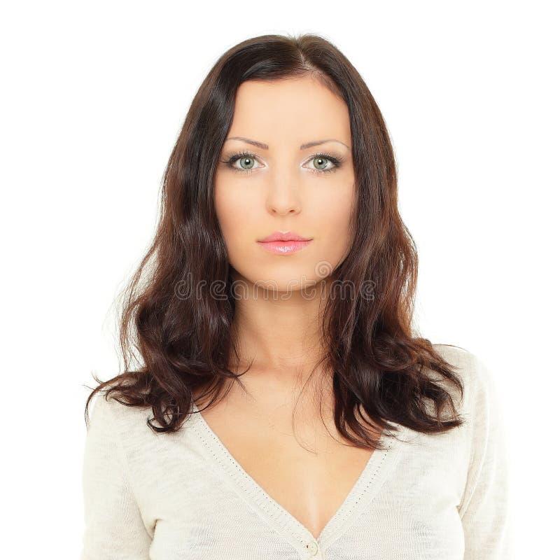 Nette junge Frau, Portrait lizenzfreie stockfotos