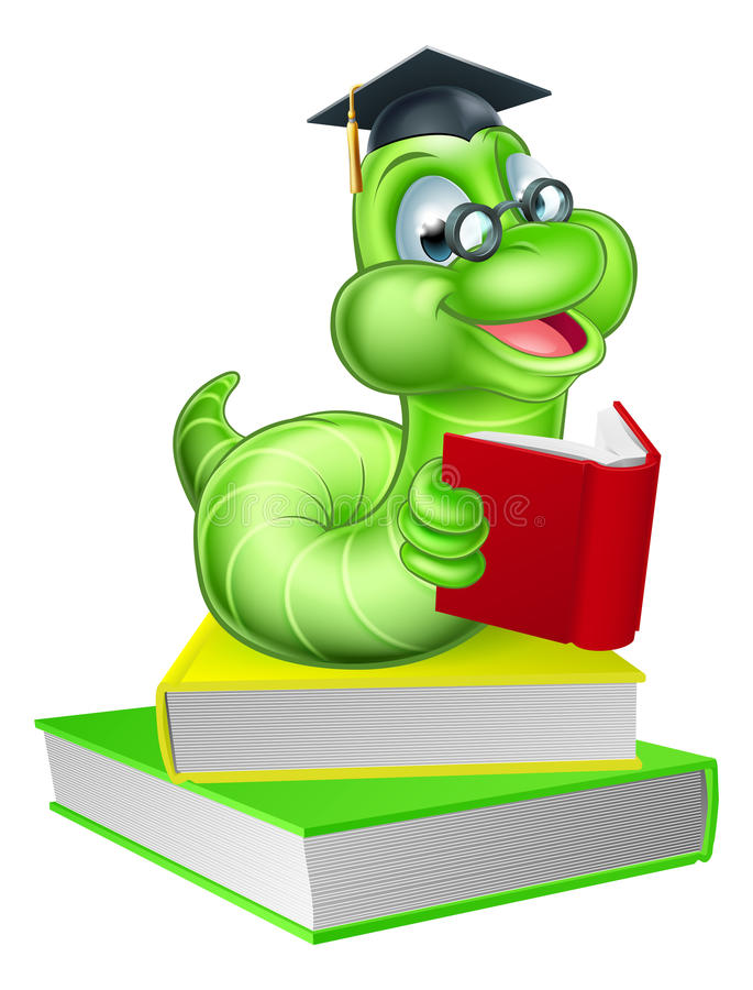 Nette Karikatur Caterpillar schlängeln stock abbildung