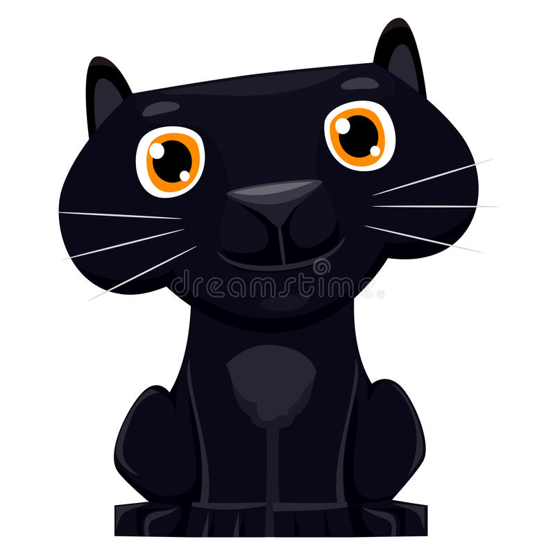 Nette Karikatur schwarzer Panther lizenzfreie abbildung