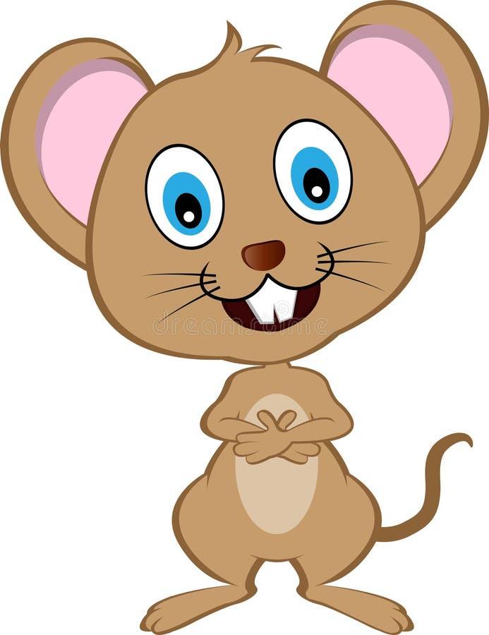 Nette Karikatur-Vektor-Maus stock abbildung
