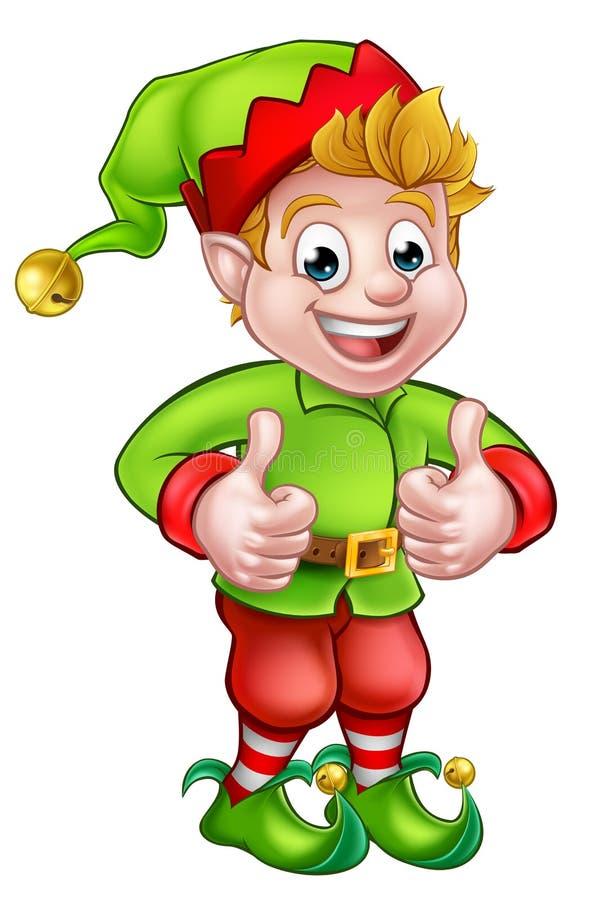 Nette Karikatur-Weihnachtselfe stock abbildung