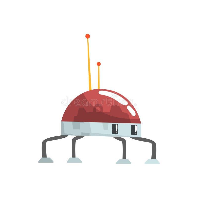 Nette Karikaturroboterspinnencharakter-Vektor Illustration lizenzfreie abbildung