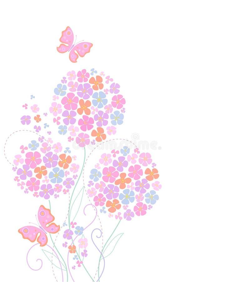 Nette Karte mit Blumen vektor abbildung