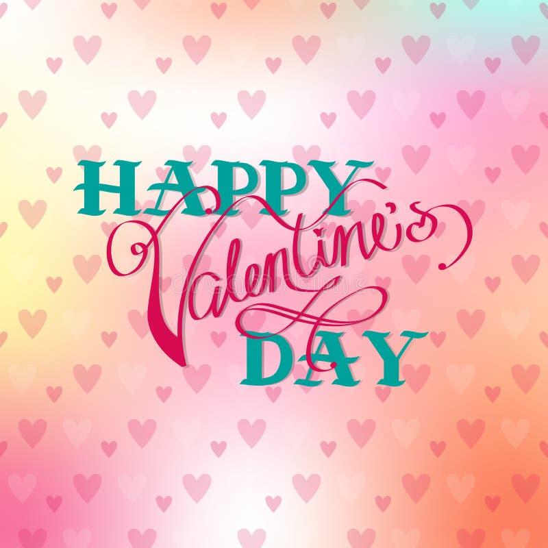 Nette Karte zum Valentinstag vektor abbildung