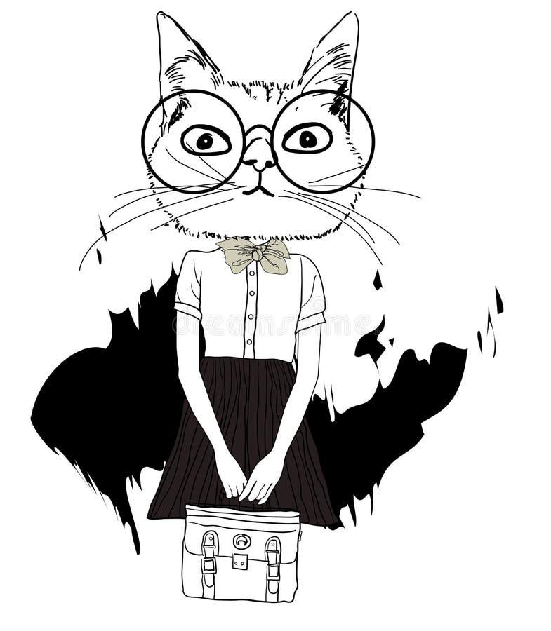 Nette Katze stock abbildung