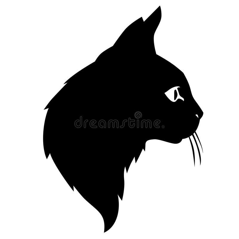 Nette Katzenschattenbilder gehen voran vektor abbildung