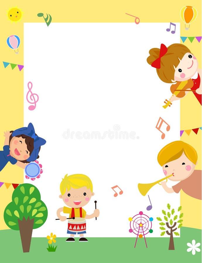Nette Kinder und Rahmen lizenzfreie abbildung