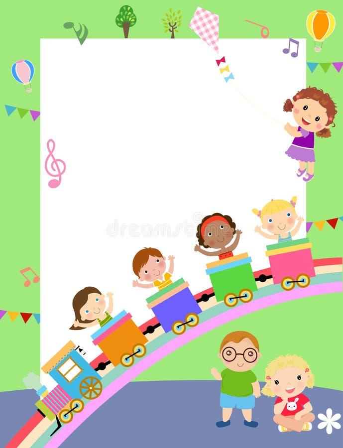Nette Kinder und Rahmen stock abbildung