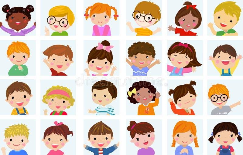 Nette Kindersammlung stock abbildung