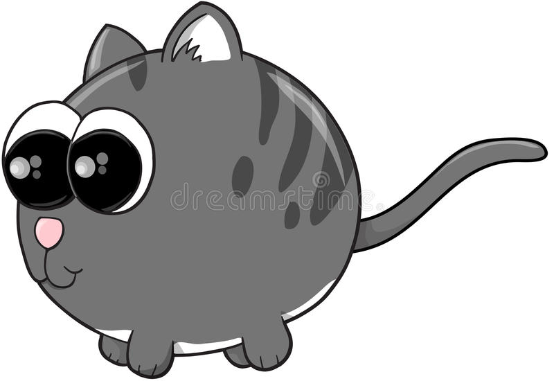 Nette Kitten Cat Vector stock abbildung
