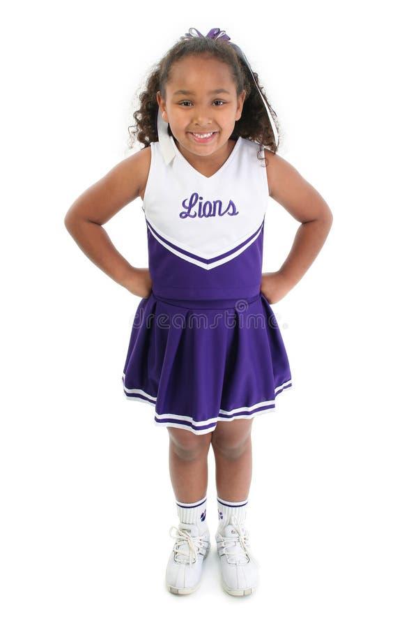 Nette kleine Cheerleader stockfotografie
