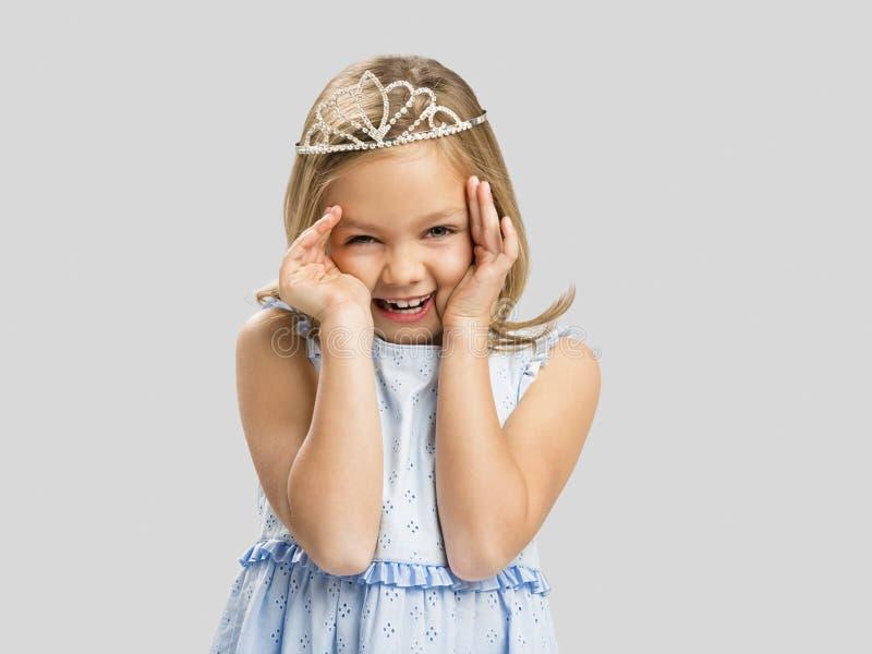 Nette kleine Prinzessin stockbilder