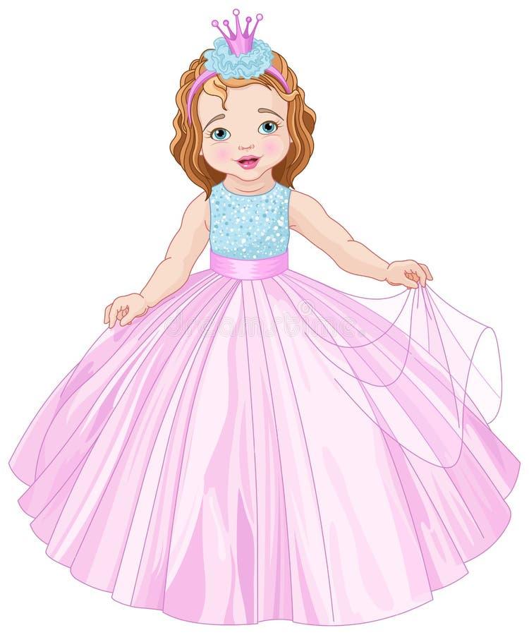Nette kleine Prinzessin lizenzfreie abbildung