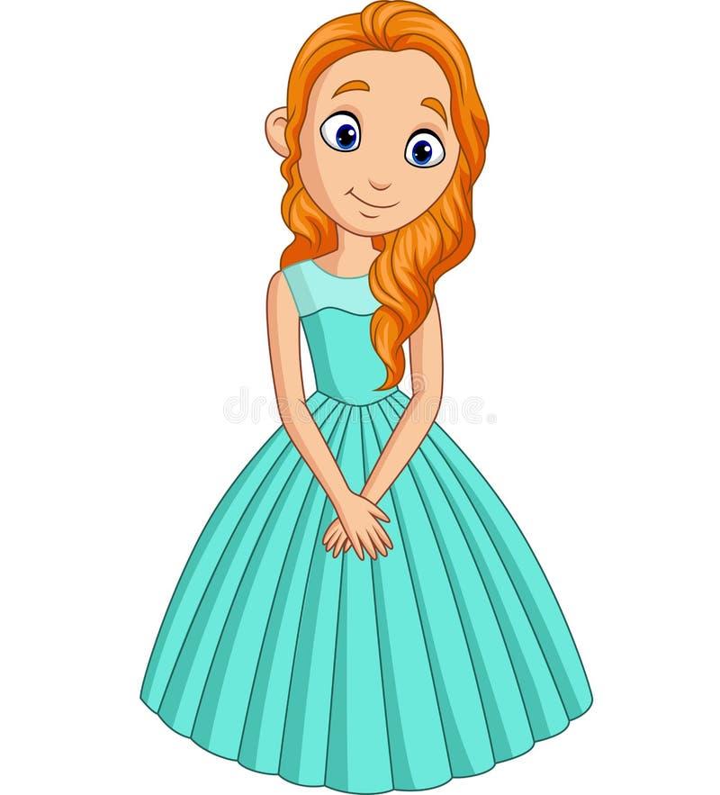 Nette kleine Prinzessin lokalisiert auf einem wei?en Hintergrund stock abbildung