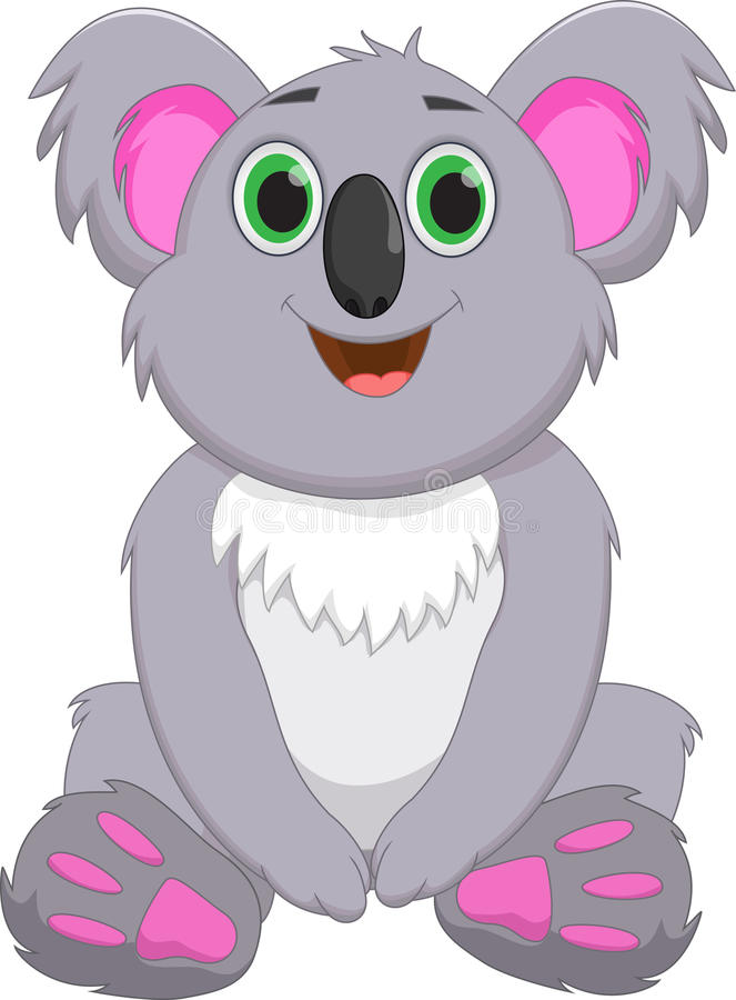 Nette Koalakarikatur vektor abbildung