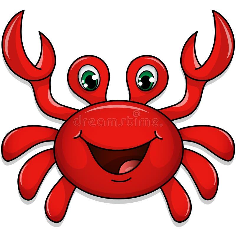 Nette Krabbe lizenzfreies stockfoto