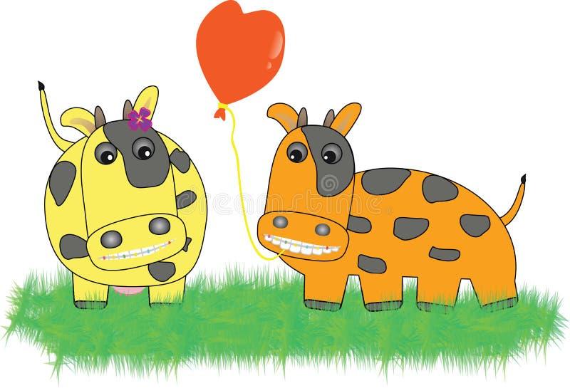 Nette Kuh in der Liebe lizenzfreie abbildung