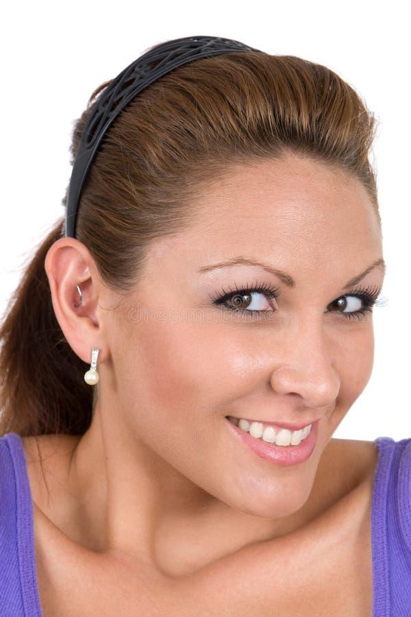 Nette lächelnde Frau lizenzfreies stockbild