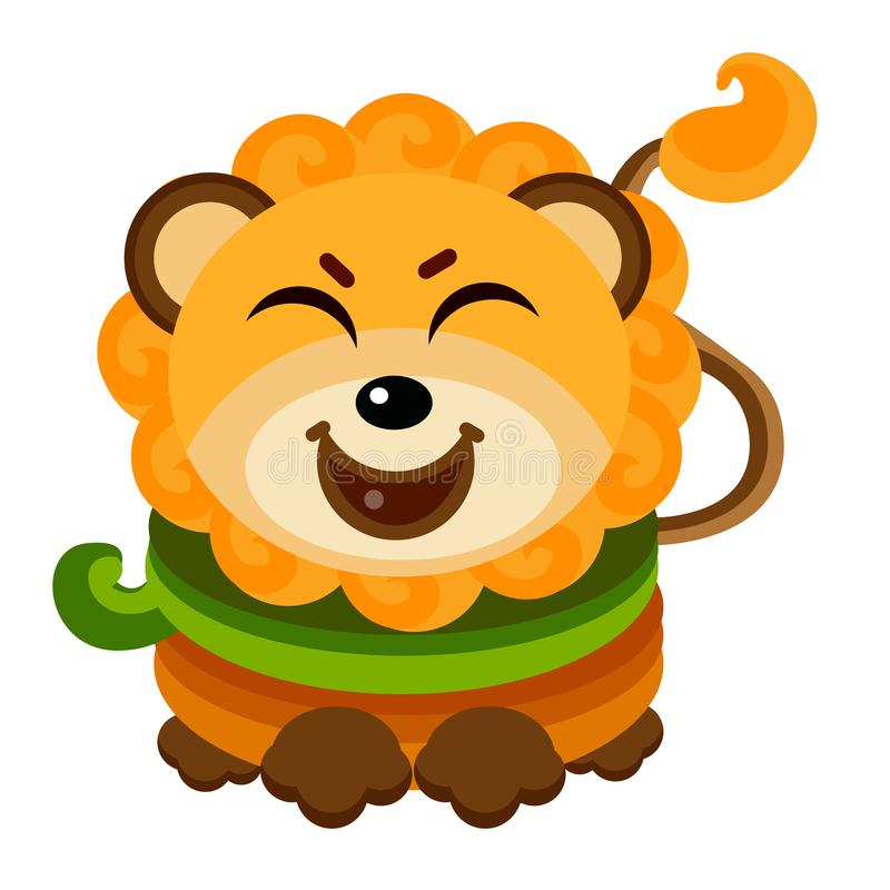 Nette Lion Face Emoticon Emoji Expressions-Illustration - Lächeln vektor abbildung