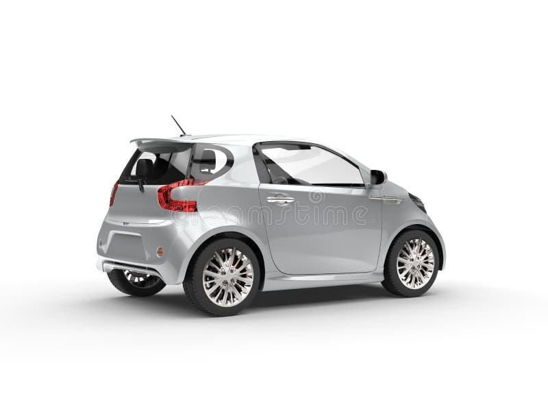 Nette moderne silberne kompakte Motor- Rückseiten-Ansicht stockfotos