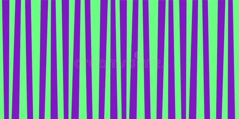 Nette Musterfahne mit den grünen und violetten vertikalen Streifen vektor abbildung